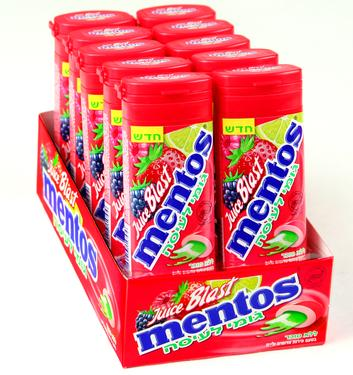Mentos Juicy Blast Wildberry & Lime Filled Gum