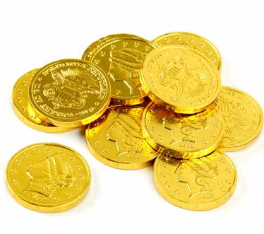 Gold Foiled Milk Chocolate Coins