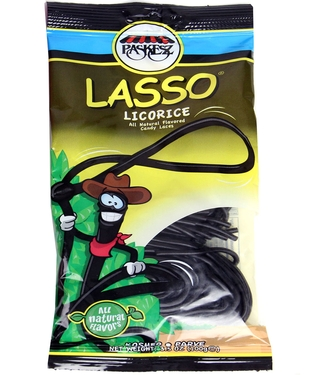3.5 oz Lasso Candy Laces - Black Licorice - 3-Pack