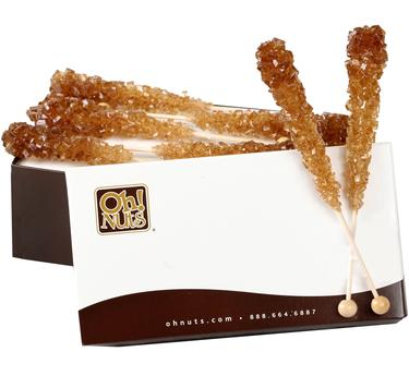 Brown Rock Candy Crystal Sticks - Root Beer