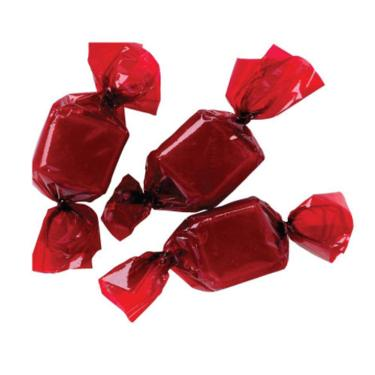 Red Anise Squares Wrapped Hard Candy
