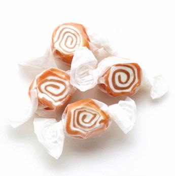Brown & White Salt Water Taffy - Caramel Nougat