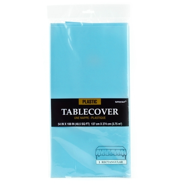 Caribbean Blue Plastic Table Cover