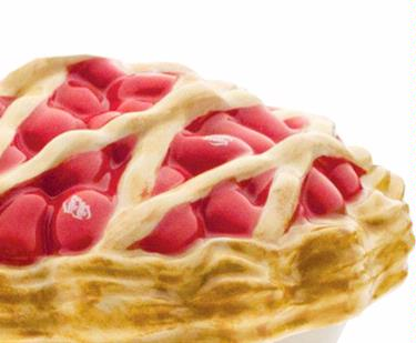 eramic Cherry Pie-Shaped Candy Dish with Very Cherry Jelly Beans