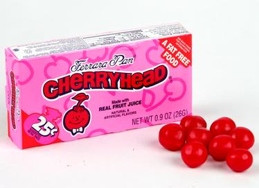 Cherryhead Mini Candy Balls - Opened