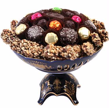 Passover Chocolate Cobalt Centerpiece