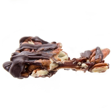 Dark Chocolate Caramelized Pecan Clusters