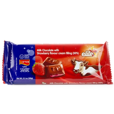 Elite Milk Chocolate Filled Strawberry Cream - 12PK