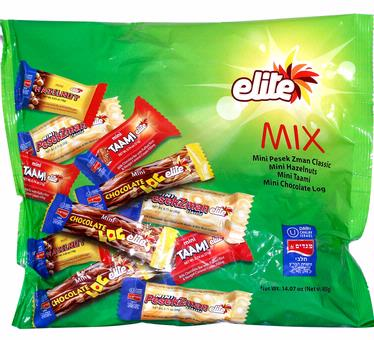 Elite Mini Milk Chocolate Bars Mix - 22CT Bag
