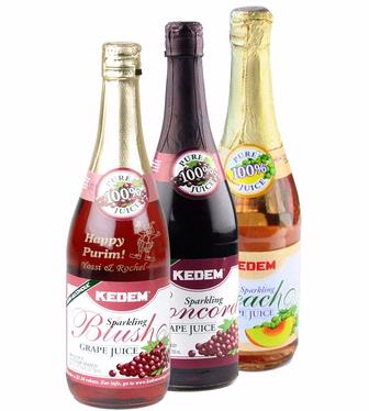 Engraved Sparkling Grape Juice Bottles