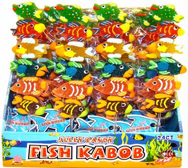 Jelly Fish Kabob Lolly - 24CT Display Box