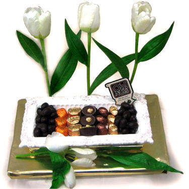 Flower Ceramic Chocolate Arrangement