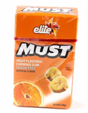 Elite Must Sugar Free Gum - Fruity (16CT Box)
