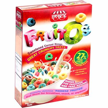 Passover Fruity Rings Cereal