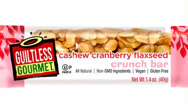 Cashew Flaxseed Crunch Bar with Cranberries - 6-Pack