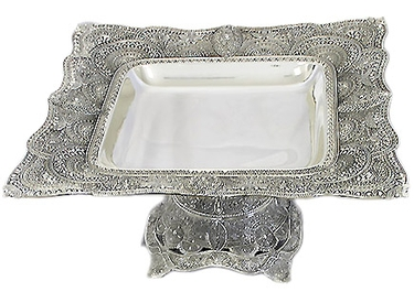 Silver Plated Square Footed Centerpiece