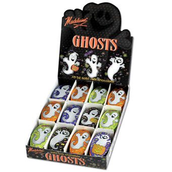 Milk Chocolate Oval Ghosts (60CT Case)