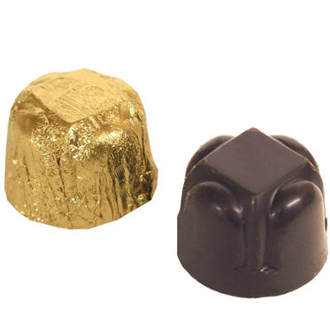Passover Gold Foiled Chocolate Truffles - 18 Pieces