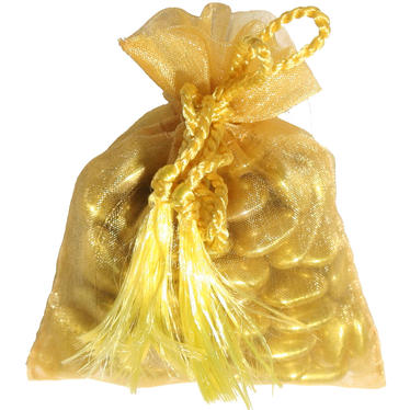 Gold Mesh Party Bags - 12 pk