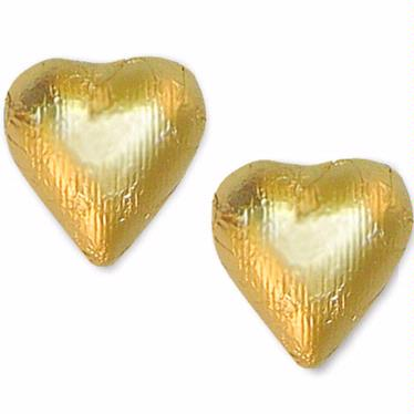 Gold Foiled Milk Chocolate Hearts