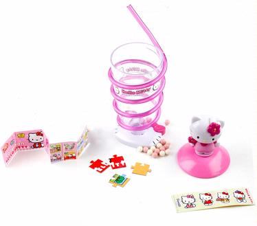 Hello Kitty Spiral Straw Cup with Perks