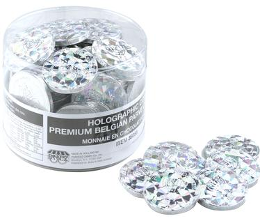 Nut-Free Holographic Dark Chocolate Coins Tub - 70 Count
