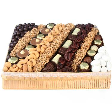 MEDIUM Nuts & Chocolate Line-Up Gift Basket