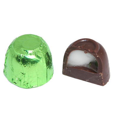Passover Mint Foiled Chocolate Truffles