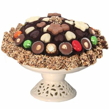 Chocolate Ceramic Pedestal Dish