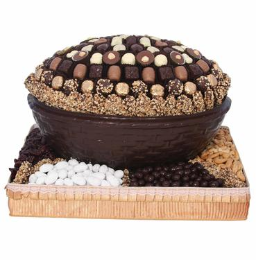 Chocolate Oval Bowl Gift Basket
