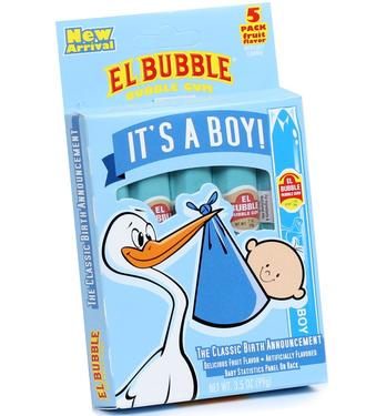 It's A Boy Bubble Gum Cigars - 12/5-Pack Box