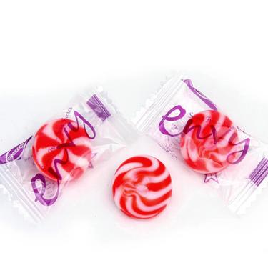 Red Swirl Candy Discs - Strawberry & Cream