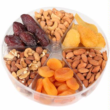 Passover 6-Section Dried Fruit & Nut Tray