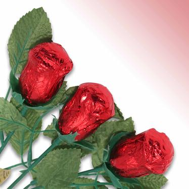 Non-Dairy Red Chocolate Rose - 12 Pc