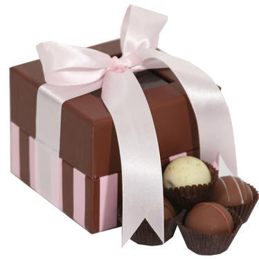 5-Pc Milk Chocolate Truffle Gift Box - Pink