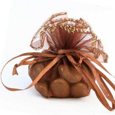 Brown Organza Bags - 12 pk