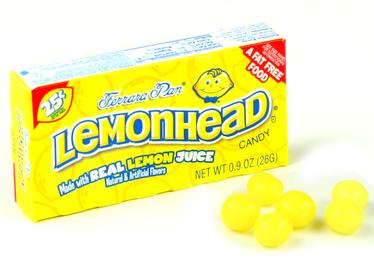 Lemonheads Mini Candy Balls - Unwrapped