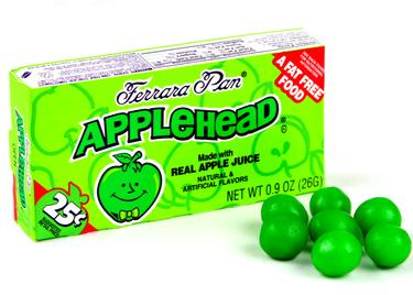 Appleheads Mini Candy Balls - Opened