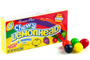 Assorted Lemonhead & Friends Mini Candy Balls - Opened