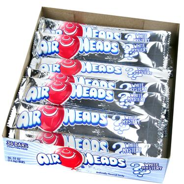 Mystery White AirHeads Taffy Candy Bars - 36CT Case