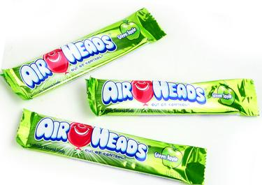 Green Apple AirHeads Taffy Candy Bars