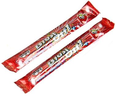 Blast Off! Extreme Sour Bubble Gum Rope - Sour Strawberry - 48CT Box