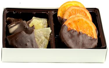 Holiday Chocolate Dipped Dried Fruit Box