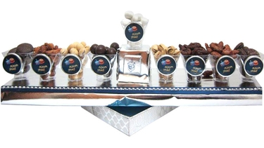 Israeli Chanukah Menorah Chocolate Gift