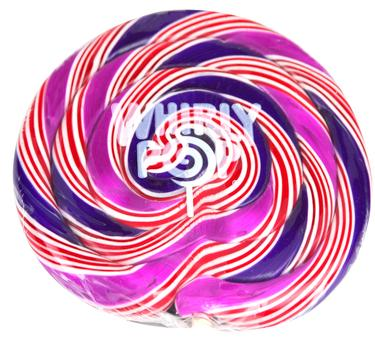 Giant Purple & Blue Whirly Pops - 10 oz