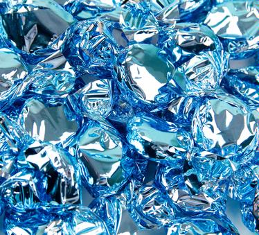 Light Blue Foiled Hard Candy - Raspberry