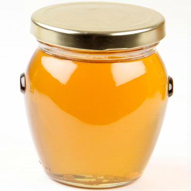 Large Glass Honey Jar
