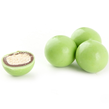 Light Green Milk Chocolate Malt Balls