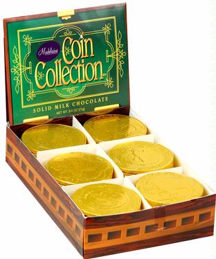 Coin Collection Large Milk Chocolate Coins