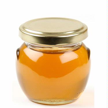Medium Glass Honey Jar